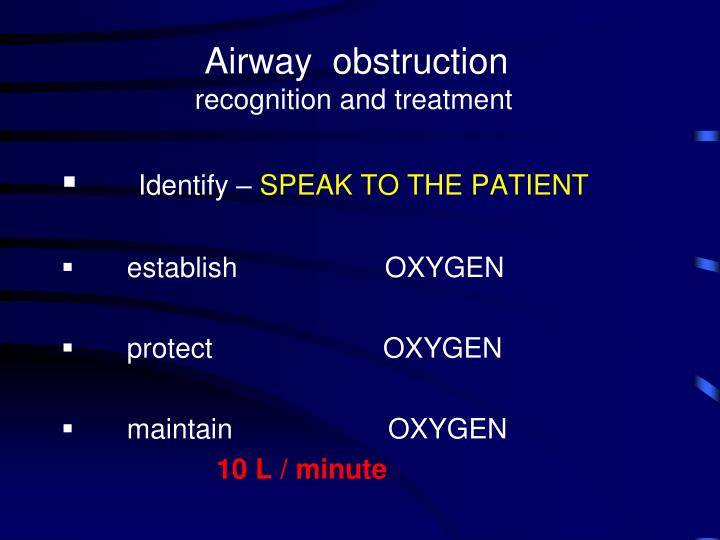Airway  obstruction