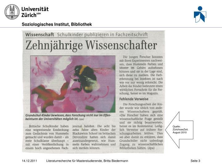 Quelle: ZürichseeZeit. August 2010