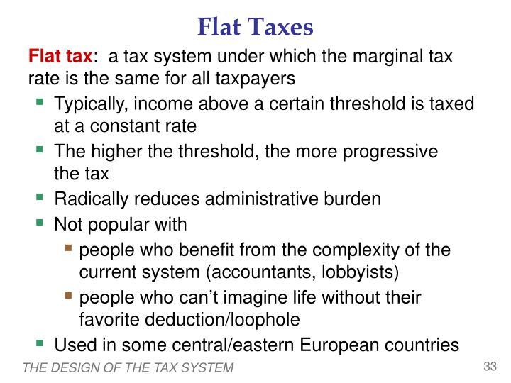 Flat Taxes