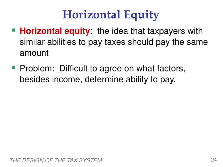 Horizontal Equity