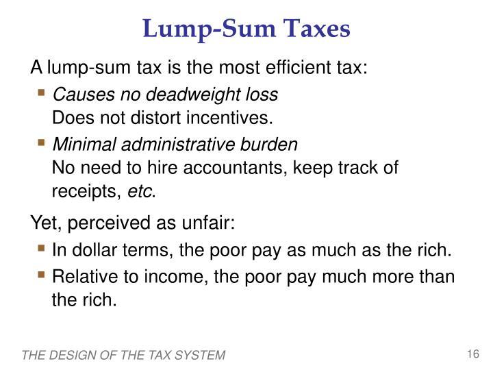 Lump-Sum Taxes