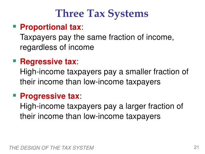 Three Tax Systems