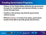 funding government programs