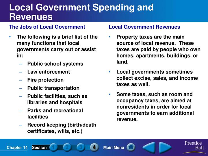 The Jobs of Local Government