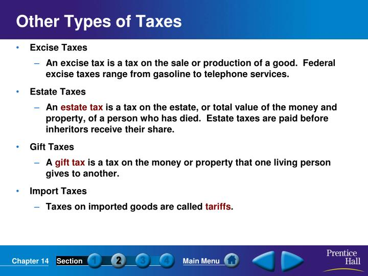 Other Types of Taxes