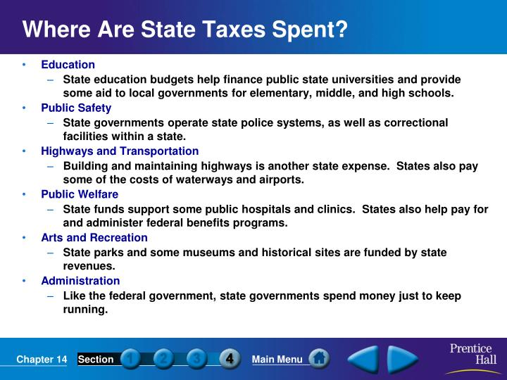 Where Are State Taxes Spent?