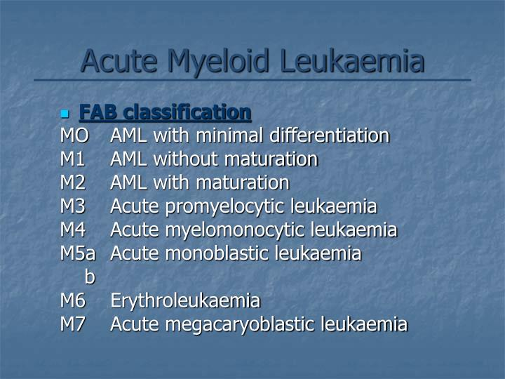 Acute Myeloid Leukaemia