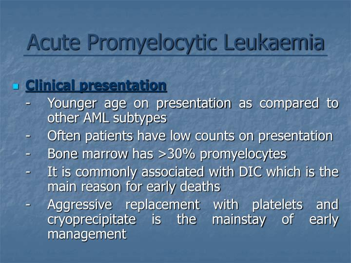 Acute Promyelocytic Leukaemia