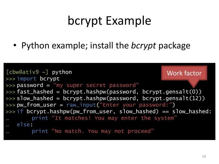 bcrypt