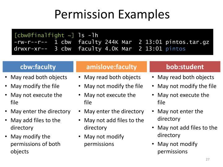 Permission Examples