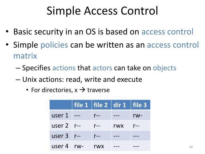 Simple Access Control