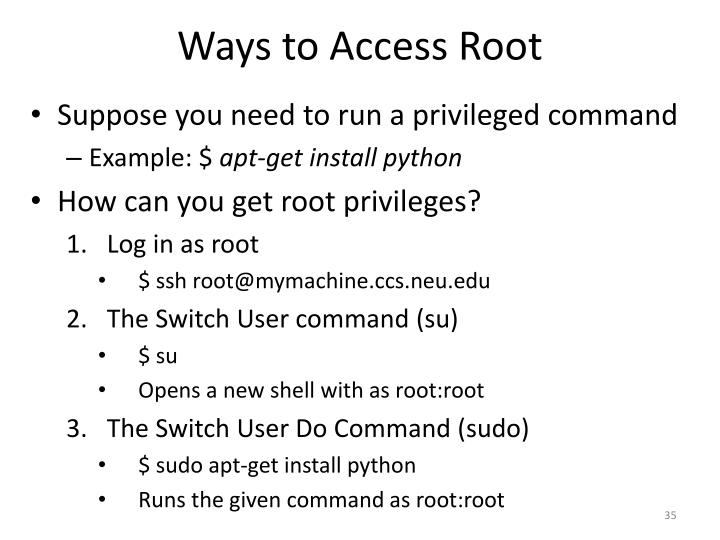 Ways to Access Root