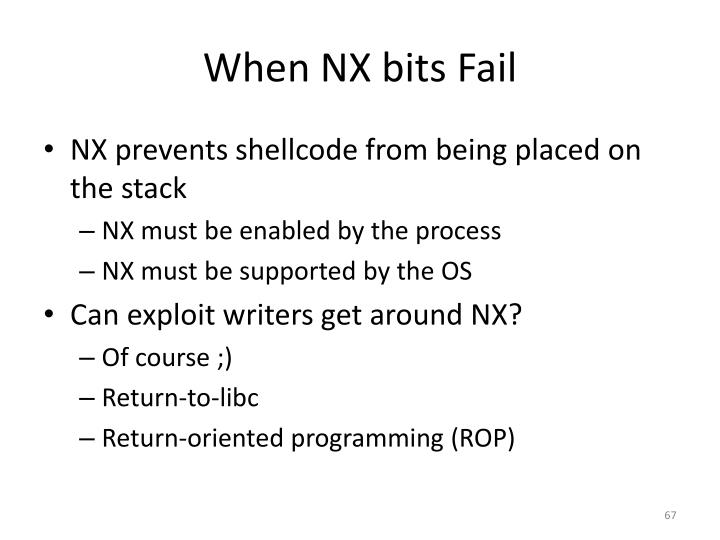 When NX bits Fail