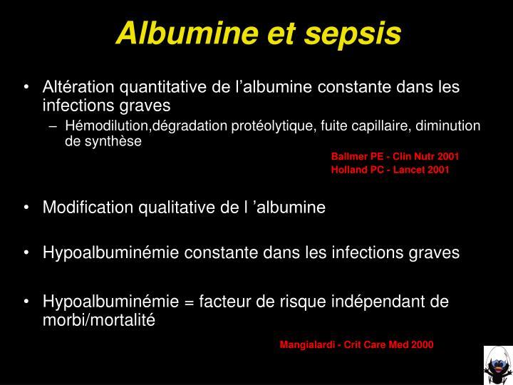 Albumine et sepsis