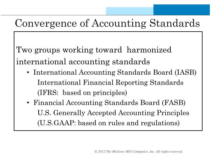 harmonisation of accounting standards
