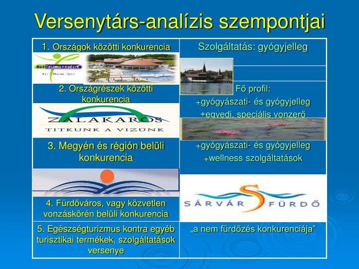 Versenytárs-analízis szempontjai