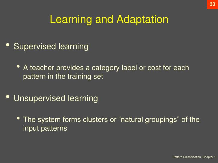 Learning and Adaptation
