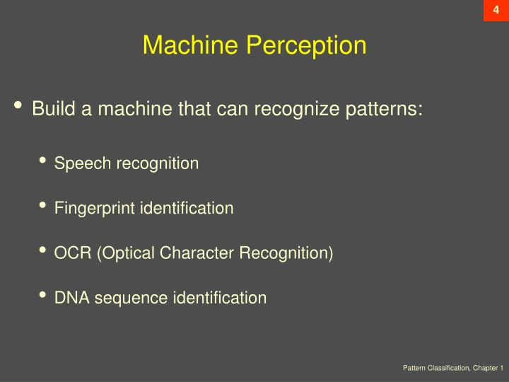 Machine Perception