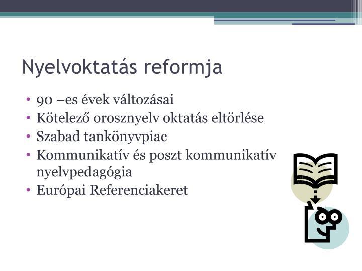 Nyelvoktatás reformja