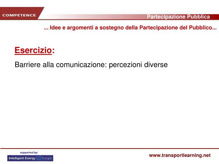... Idee e argomenti a sostegno della Partecipazione del Pubblico...
