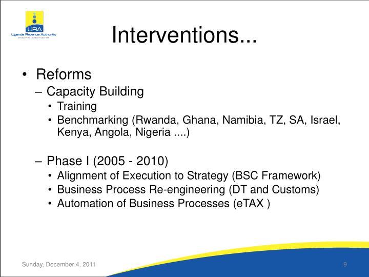 Interventions...