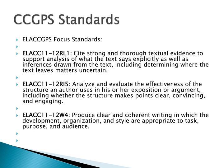 CCGPS Standards