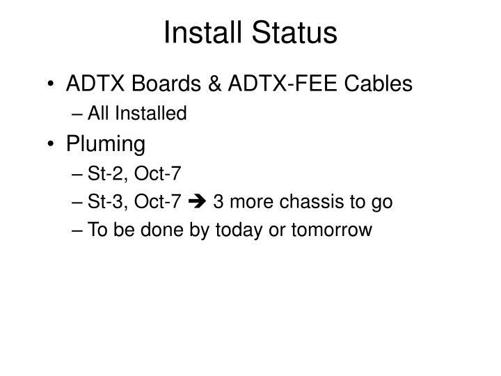 Install Status