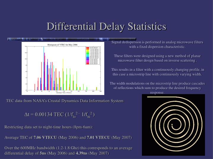 Differential Delay Statistics
