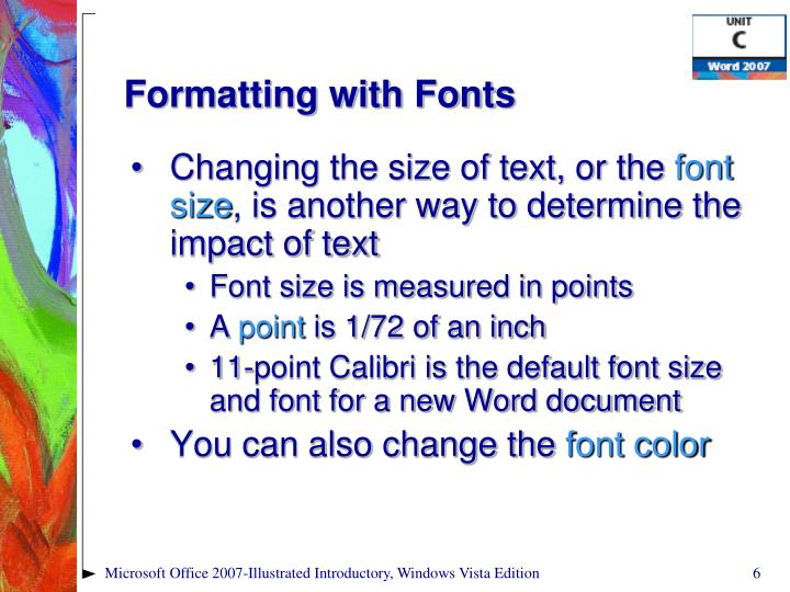 Formatting with Fonts