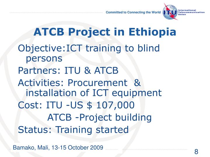 ATCB Project in Ethiopia