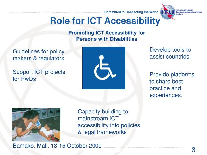 Role for ICT Accessibility