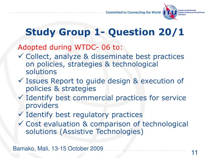Study Group 1- Question 20/1