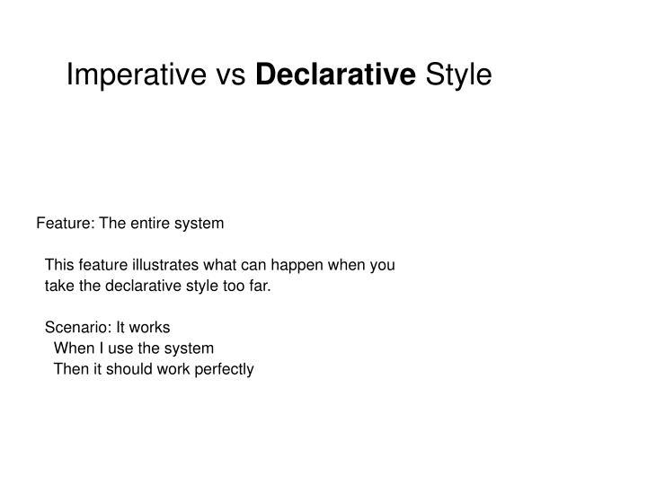 Imperative vs