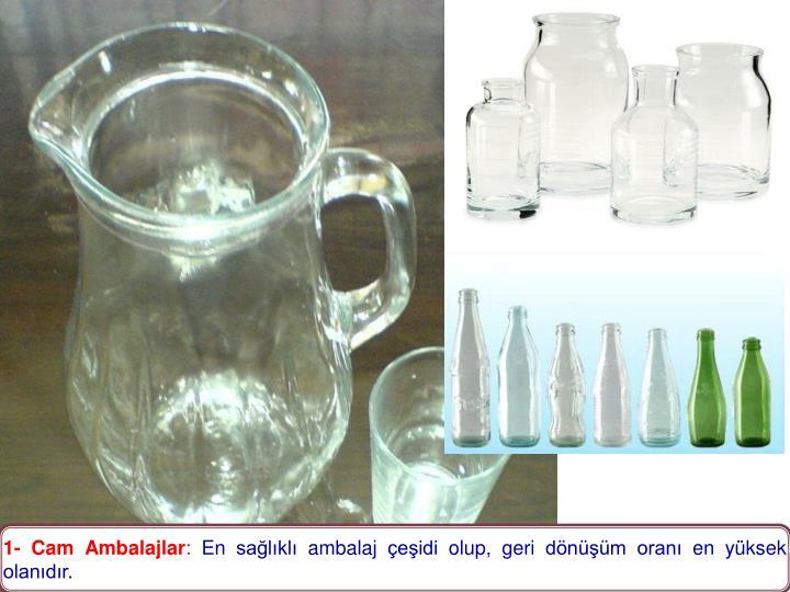 1- Cam Ambalajlar