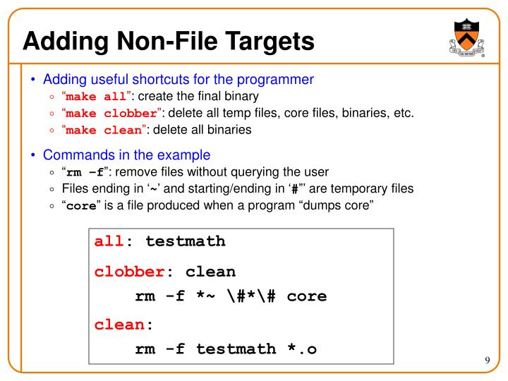 Adding Non-File Targets
