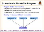 example of a three file program
