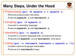 many steps under the hood