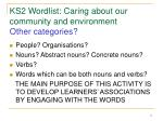 ks2 wordlist caring about our community and environment other categories