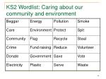 ks2 wordlist caring about our community and environment