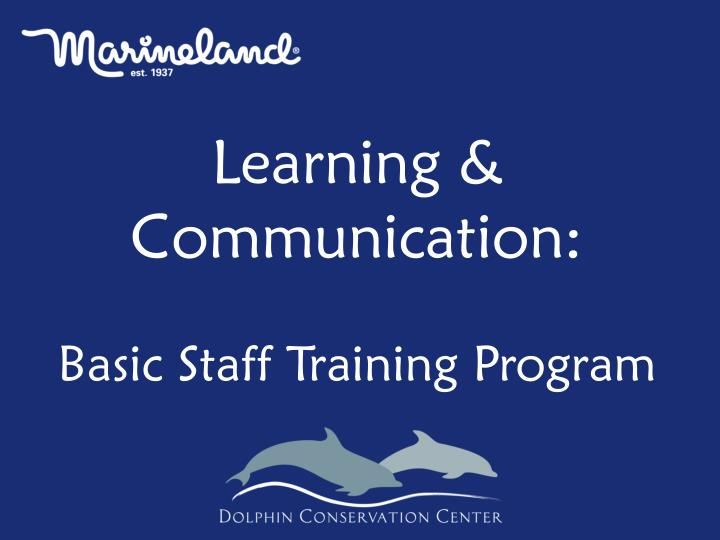 Learning & Communication: