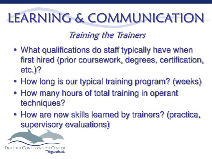 LEARNING & COMMUNICATION