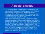 a postal analogy