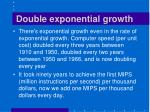 double exponential growth