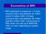 economics of mri