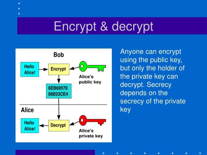 Encrypt & decrypt