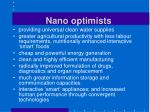 nano optimists