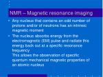 nmr magnetic resonance imaging