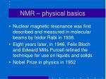 nmr physical basics