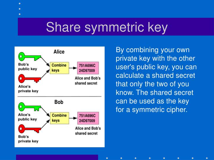 Share symmetric key