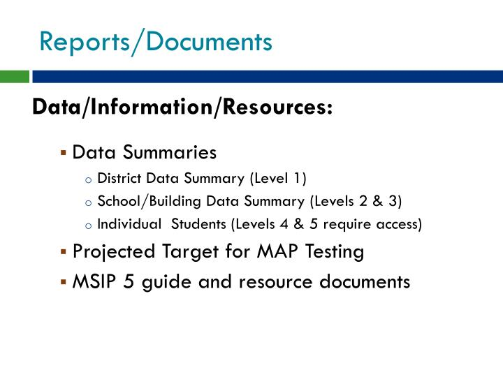 Reports/Documents
